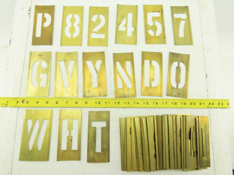 Brass Lockedge Gothic Stencils Assortment Art Project Lot Of 60+
