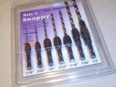 Snappy Drill Adapter 8 Piece Kit