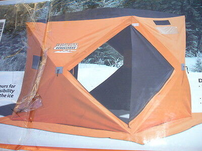 Equinox Rendezvous Ice Fishing Shelter E-Z UP 600 Denier Fabric 3-4 Person NEW 3 Person Ice Fishing Shelter
