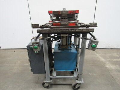Custom Hydraulic Punch Press 2 Stroke Wdie Set Shoe 460v