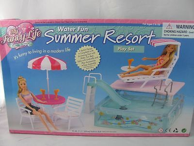 Barbie Size Dollhouse Furniture swimming pool set NEW