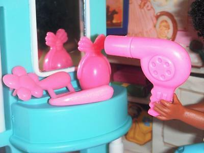 Barbie Pink Hairdryer Soap Brush Lot fits Fisher Price Loving Family Dollhouse