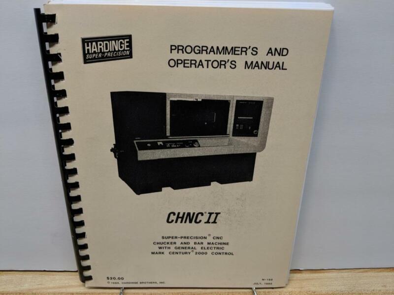 Hardinge CHNC II CNC Programmer