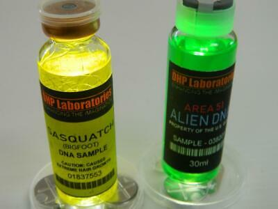 Sasquatch, Area 51 Alien DNA Combo Halloween Prop Cosplay Real Medical Vials