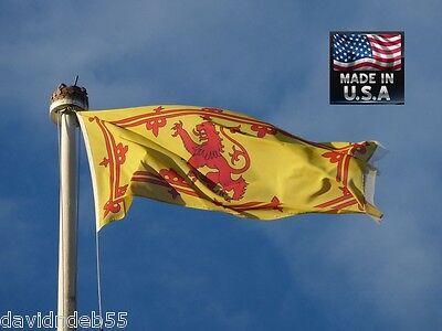 SCOTLAND Scottish ROYAL LION Rampant Arms 3x5 Super-Poly FLAG Banner*USA MADE