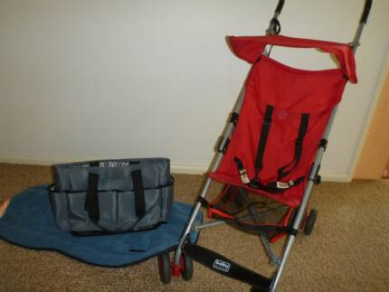 Red Buggy, Blue Liner & Bargain Nappy Bag (PinkBuggy extra) Como Sutherland Area Preview