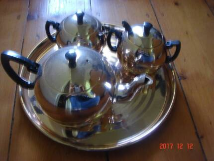stainless steal  tea set