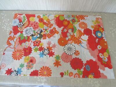 Vintage 1970's Wamsutta Percale Pillowcase Set Kimono Line Flower Power