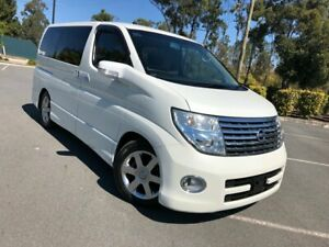 2005 Nissan Elgrand E51 Highway Sta 8 Seats Series 2 White 5 Speed Automatic Wagon Arundel Gold Coast City Preview