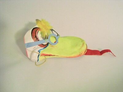 Halloween mask vintage plastic 3D Duck with tongue out. RARE dimestore mask