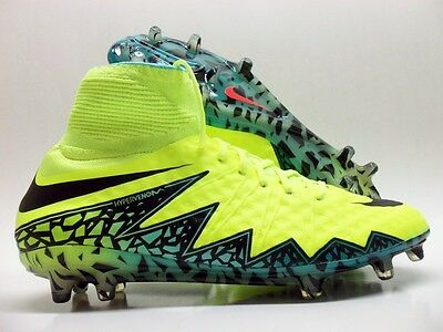 hot sale online 34f2e 9315a NIKE HYPERVENOM PHANTOM II FG SOCCER CLEAT VOLT BLACK SZ MEN S 11.5  747213-