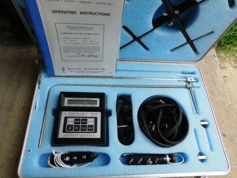 SHORTRIDGE INSTRUMENTS AIRDATA MULTIMETER ADM-860 ELECTRONIC MICROMANOMETER