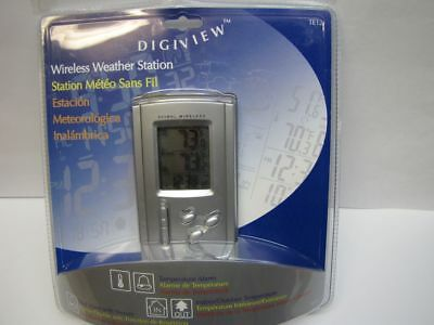 Digital Quartz Wireless Weather Station Clock Thermometer Alarm Indoor Outdoor ()