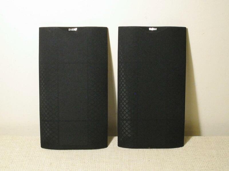 2 B&W BOWERS & WILKINS DM601 S2 SPEAKER GRILL & LOGO XCLNT SPEAKER FRAME COVER