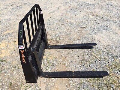 New Pallet Forks Attachment For Skid Steer- Fits Bobcat More- 42 Adjustable