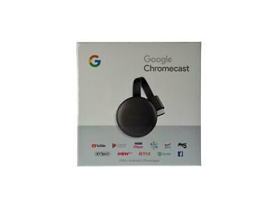 Google GA00439-US Chromecast 3rd Gen Media Streaming - Charcoal