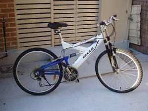 Aluminium white Blue Mountain Bike Kingsford Eastern Suburbs Preview