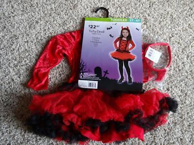 NEW Toddler Girls LITTLE DEVIL DRESS HALLOWEEN COSTUME      Size 3T-4T