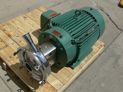 Tri-clover Industrial Size Sanitary Centrifugal Pump W A 40hp Reliance Motor