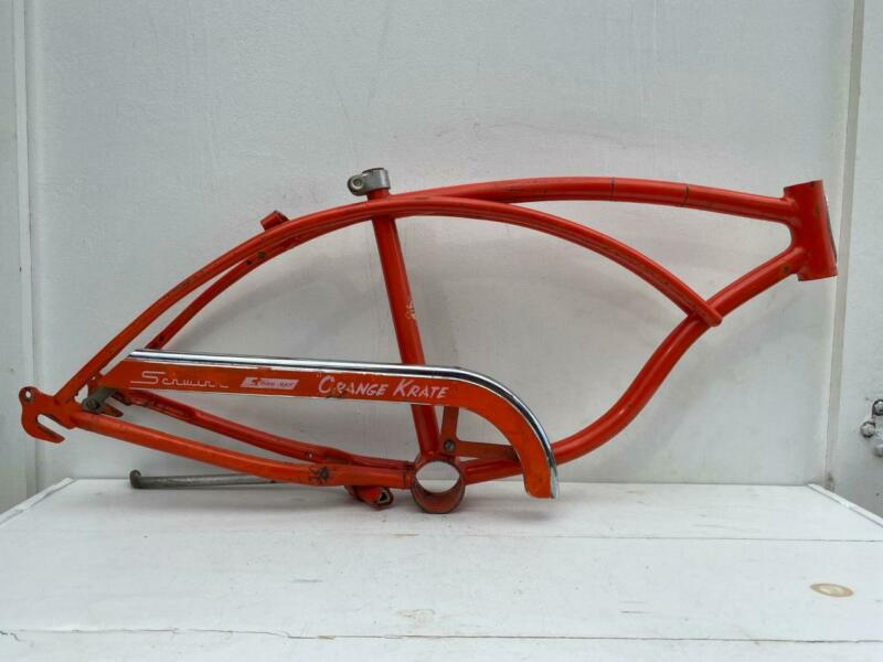 1970 Schwinn Bicycle Stingray ORANGE KRATE FRAME original paint with CHAIN GUARD
