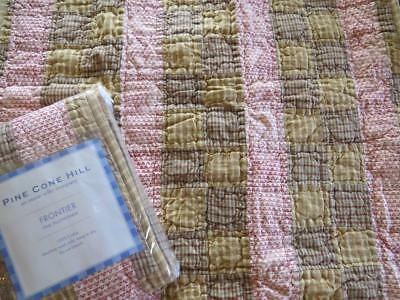 - (2) NEW, PINE CONE HILL, 100% COTTON, QUILTED PATCHWORK, FRONTIER EURO SHAMS