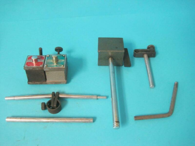 Magnetic Base Lot Starrett Indicator Milling Stand Holder No. 657 w/Attachments