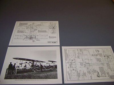 VINTAGE..1903 WRIGHT FLYER , MODEL A/B,.3-VIEWS/STRUCTURE....RARE! (280B) for sale  Columbus