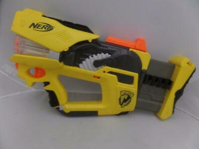 NERF N-STRIKE Firefly REV-8 Rotating Barrel Dart Blaster Flashing Light Gun T7