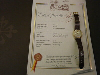 Patek Philippe 96J Vintage 31MM Manual Calatrava W/Rare P.P. Buckle. Archives