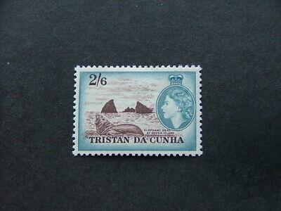 Tristan Da Cunha QEII 1954 2/6 sepia & blue SG25 MM