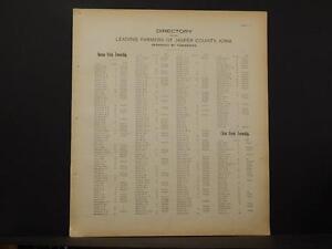 Iowa, Jasper County Map, Farmer's Directory, C. 1901 K10#78
