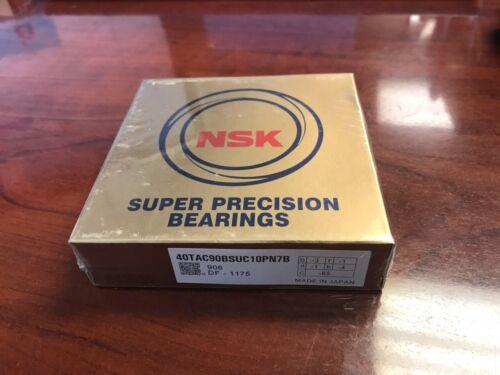 NSK super precision bearing 40TAC90BSUC10PN7B (40TAC90B) 40mm ID x 90mm OD