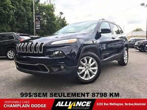 2016 Jeep Cherokee LIMITED 99$/SEM 4X4 V6 CUIR,NAVIGATION,BLUETO