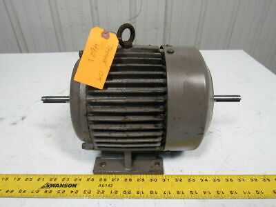 Century 3hp Double Shaft Electric Motor 3ph 230460v 132t Frame 3400 Rpm
