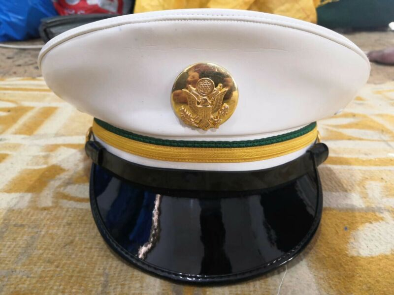 USA Army Military Police MP Enlisted Service Dress White Cap all sizes available