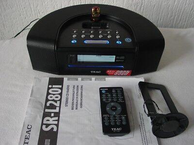 TEAC SR-L250i schwarz mit UKW RDS+CD MP3 fähig+USB+16GB Stick+FB - 100% ok. 100 Gb Cd