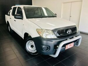 2009 Toyota Hilux TGN16R MY09 Workmate 4x2 White 4 Speed Automatic Utility