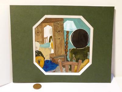 DUST Inuit Eskimo Alien ORIGINAL ARTWORK Artist Unknown Book Illustration #7