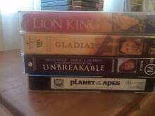 Gladiator, The Lion King, Planet of the Apes and Unbreakable Vids Charlestown Lake Macquarie Area Preview