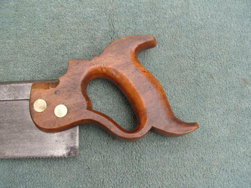"""8"""" Steel backed Dovetail saw by I Sorby, Sheffield."""