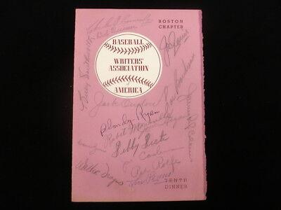 1949 Baseball Writers' Association Program - 20 MLB Star Autographs - JSA LOA