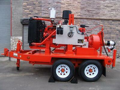 Godwin Hl110m Water Trash Pump John Deere 6.8l Diesel Tow Behind Trailer New