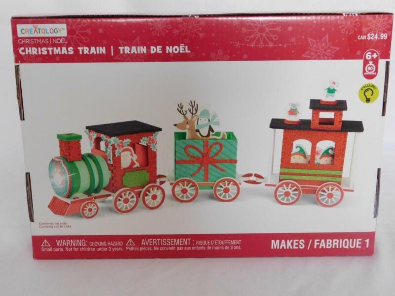 Creatology 3D Foam Christmas Train Kit Kids Crafts 132 Pieces NEW Lights Up
