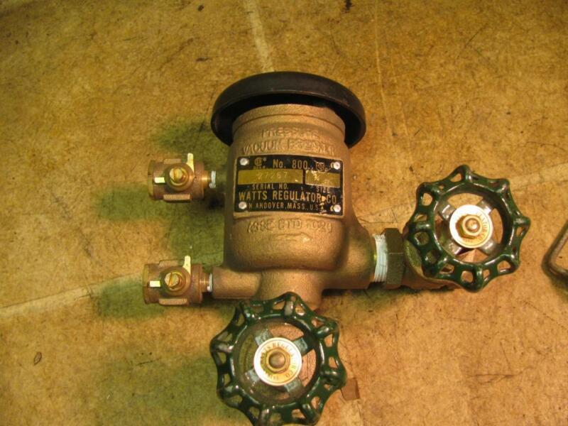 "Watts 3/4"" no 800 Pressure Vacuum Breaker ASSE 1020"