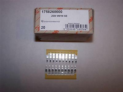 Weidmuller 1758260000 Terminal Jumper Bars Zqv 4n10 Ge Lot Of 2 New