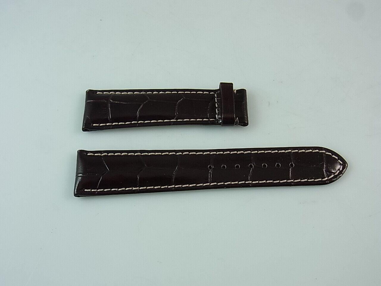 Union Glashütte Leder-Armband Uhren Ersatzband Ersatzarmband 21 mm Braun