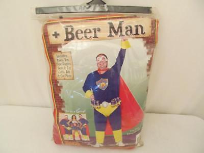 Beer Man Halloween Costume Plus Size 1XL-2XL Adult Rasta Imposta (Beer Man Halloween Costumes)