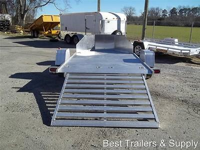 Mc210 Double Motorcycle Aluma Aluminum Bike Trailer 2018 W New Ramp 77 X 12