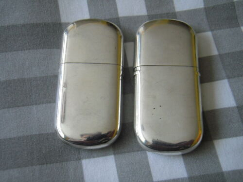 solid silver lighters, 1918-19 by ES.B
