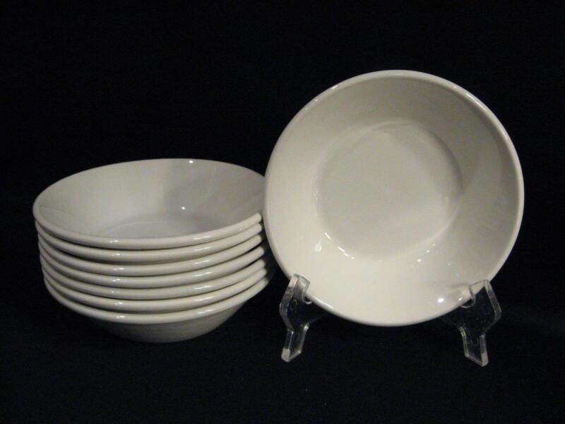 MIDWINTER STONEHENGE WHITE COUPE CEREALS - EIGHT- MADE IN ENGLAND